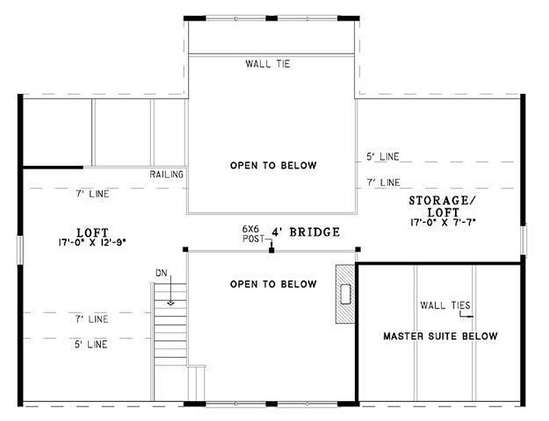 Plan 110 00944 2 Bedroom 2 Bath Log Home Plan