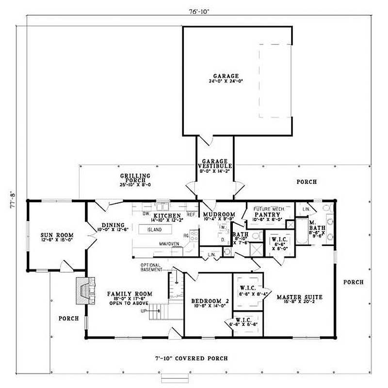 Plan 110 00946 2 Bedroom 2 Bath Log Home Plan