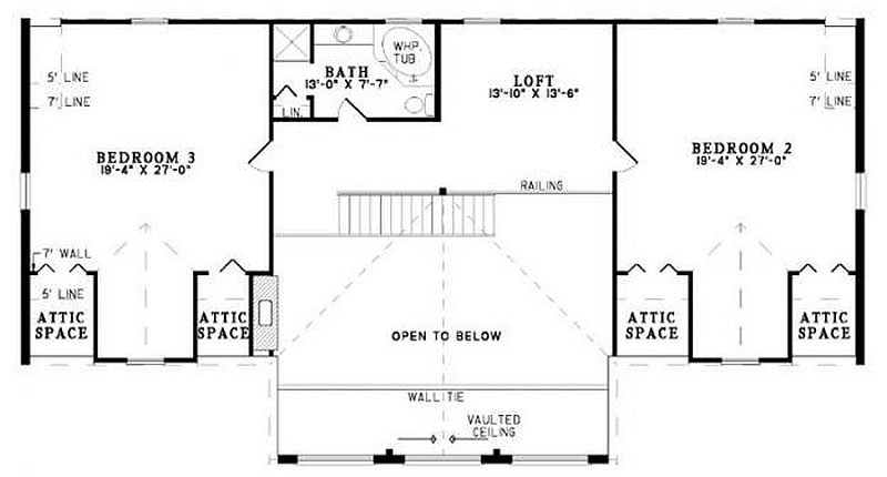 Plan 110 00951 3 bedroom 2 5 bath log home plan for 5 bedroom log home plans