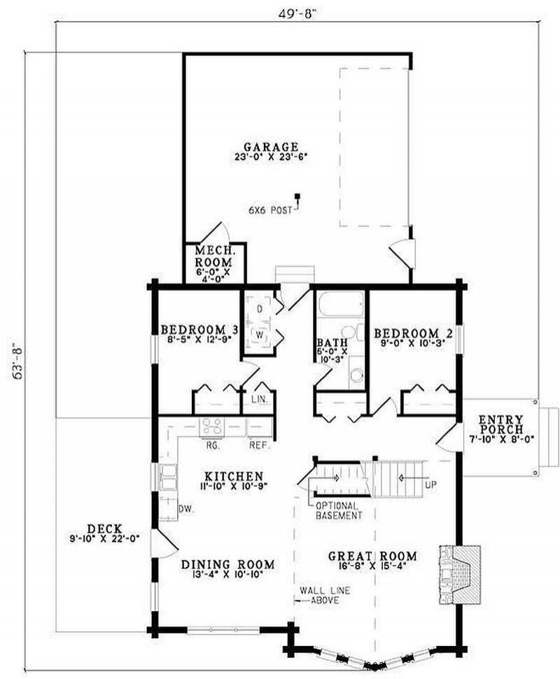 Plan 110 00952 3 bedroom 2 bath log home plan for 2 bedroom log home plans