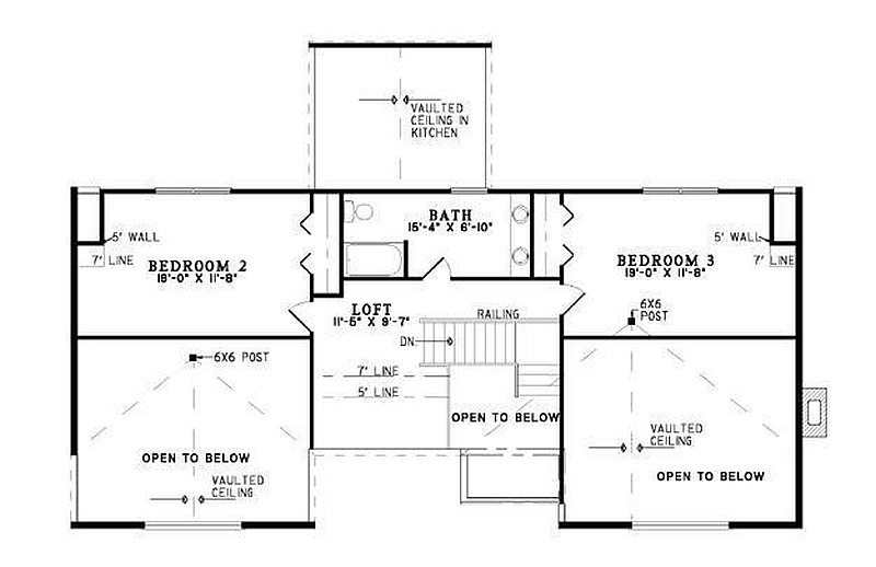 Plan 110 00957 3 bedroom 2 5 bath log home plan for 5 bedroom log home plans