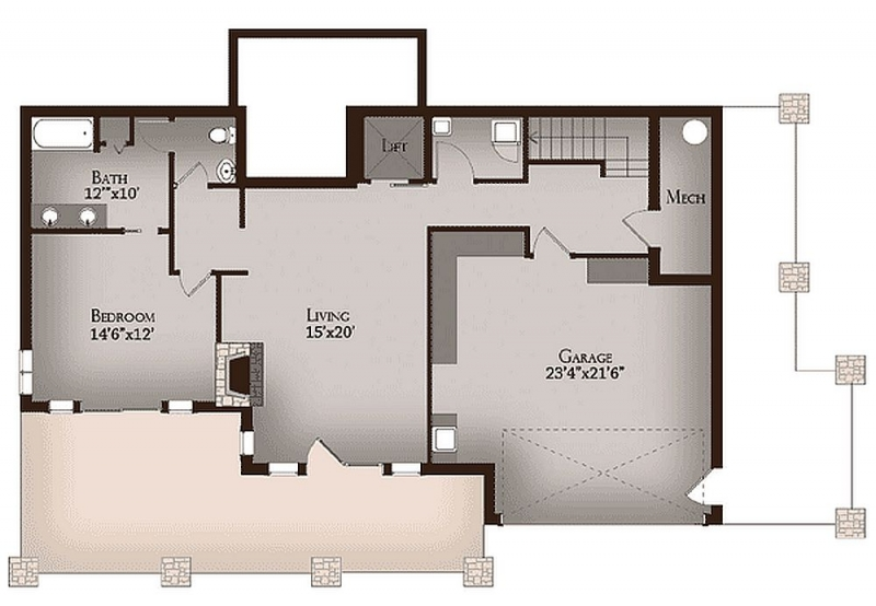 Plan 13315ww 2 Bedroom 2 5 Bath Log Home Plan
