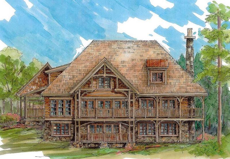 Plan 13325ww 2 bedroom 2 bath log home plan for 2 bedroom log homes