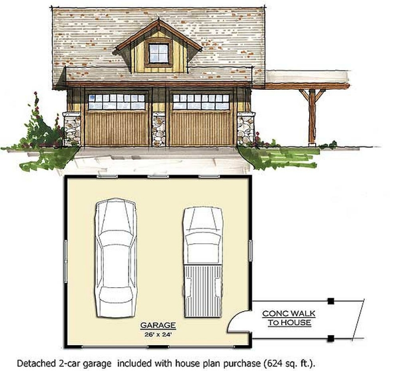 Plan 18773ck 4 Bedroom 3 5 Bath Log Home Plan