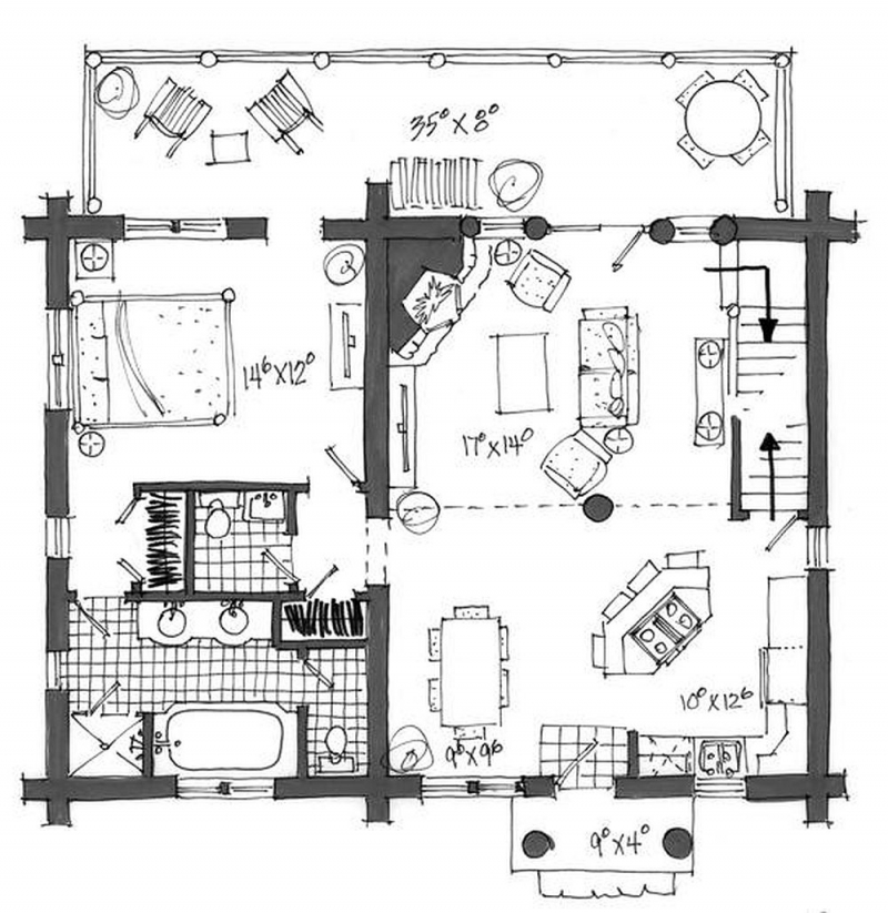 Plan 1907 00001 4 Bedroom 3 5 Bath Log Home Plan