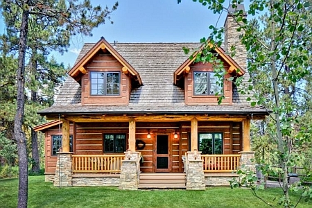 Plan 1907 00005 3 bedroom 2 bath log home plan for Two bedroom log homes