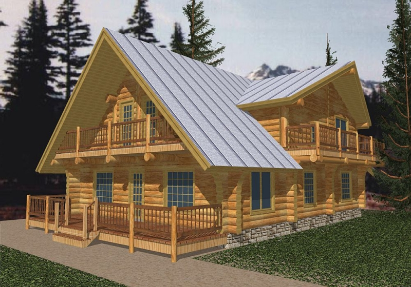 Plan 35022gh 4 Bedroom 3 Bath Log Home Plan
