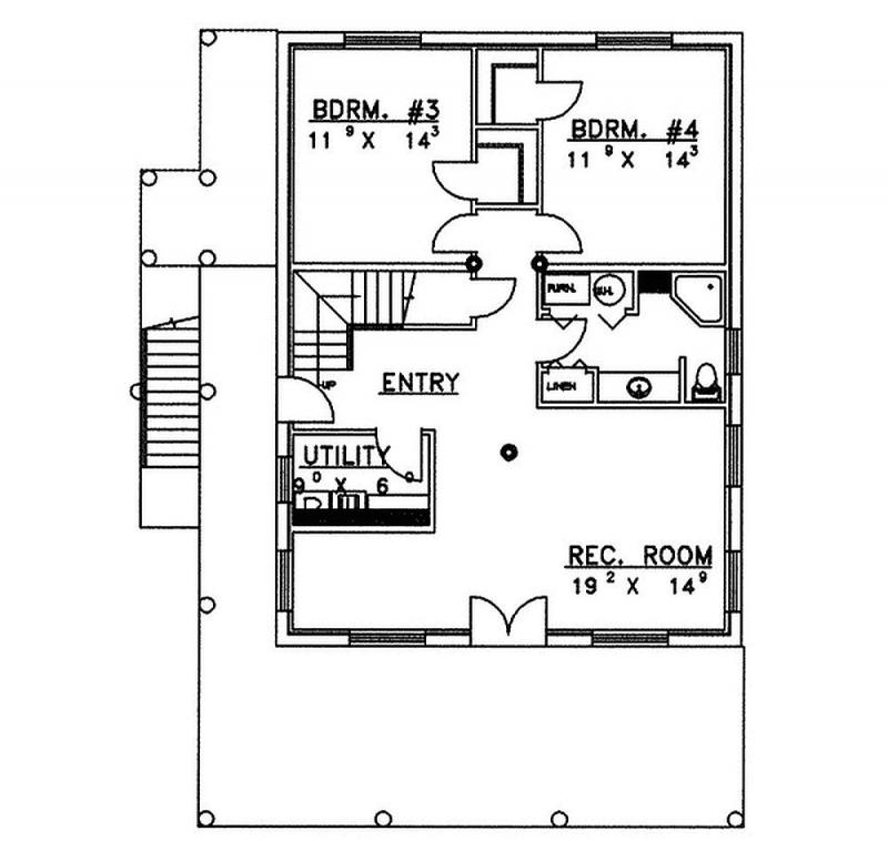 Plan 35022gh 4 Bedroom 3 Bath Log Home Plan