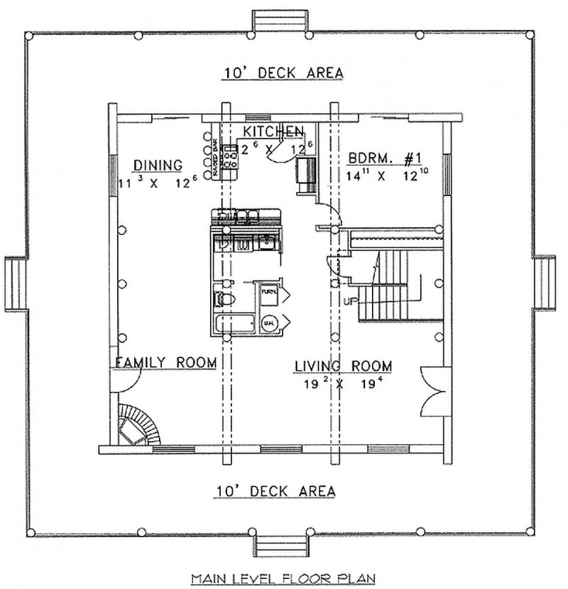 Plan 35134gh 1 Bedroom 2 Bath Log Home Plan