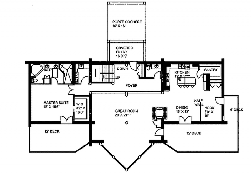 Plan 35350gh 2 Bedroom 3 5 Bath Log Home Plan