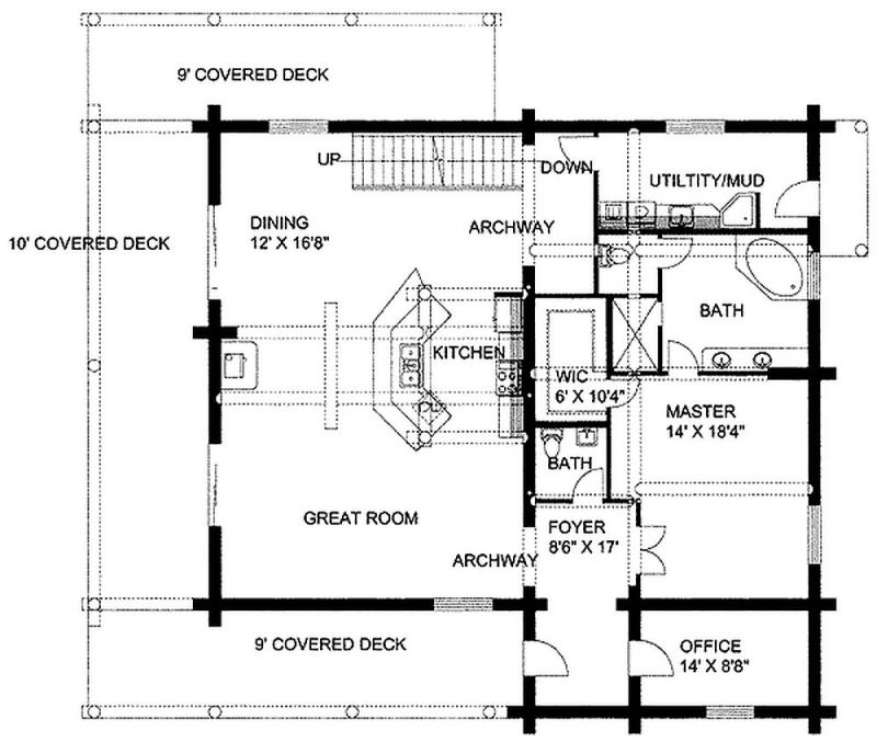 Plan 35351gh 2 bedroom 3 5 bath log home plan for 5 bedroom log home plans
