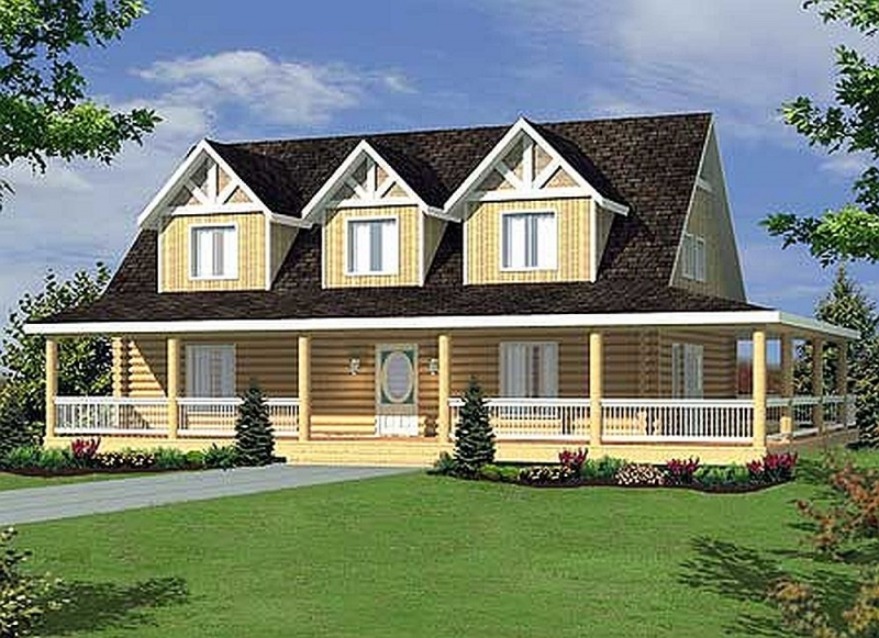 Plan 35409gh 4 bedroom 3 bath log home plan for 4 bedroom log homes