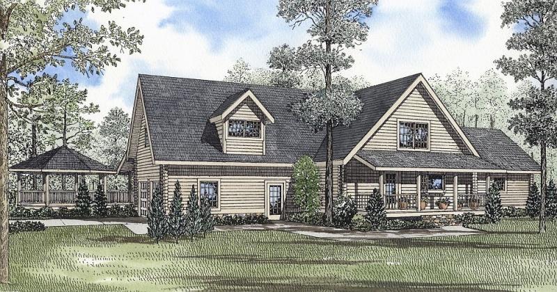 Plan 59027nd 2 bedroom 2 5 bath log home plan for 2 bedroom log home plans