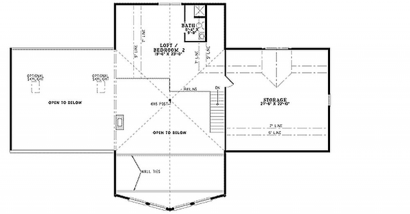 Plan 59027nd 2 bedroom 2 5 bath log home plan for 5 bedroom log home plans