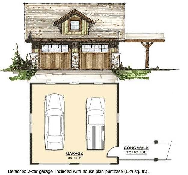 Plan 8504 00036 3 Bedroom 3 5 Bath Log Home Plan