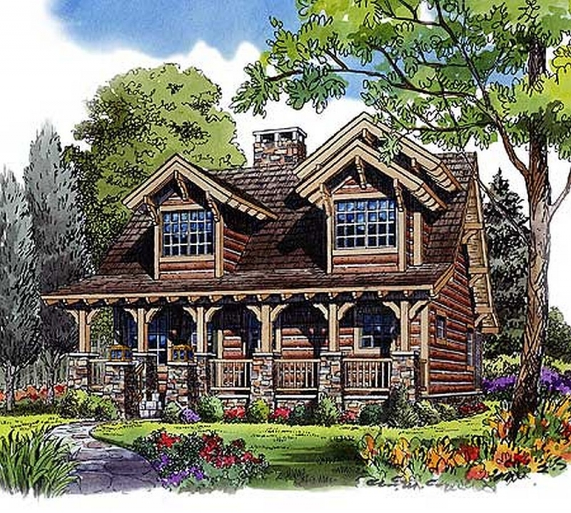 Plan Lsg11536kn 4 Bedroom 2 Bath Log Home Plan