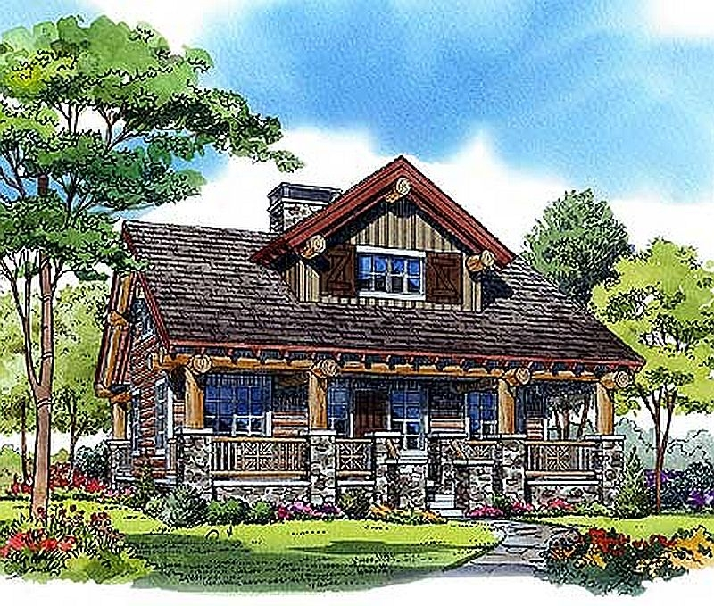 Plan lsg11541kn 2 bedroom 1 bath log home plan for Two bedroom log homes