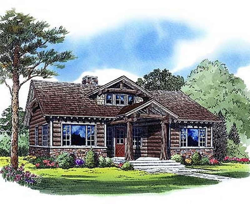 Plan lsg11543kn 2 bedroom 1 bath log home plan for Two bedroom log homes
