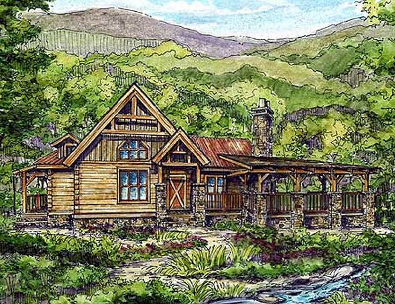 Plan lsg13306ww 1 bedroom 1 5 bath log home plan for 5 bedroom log home plans