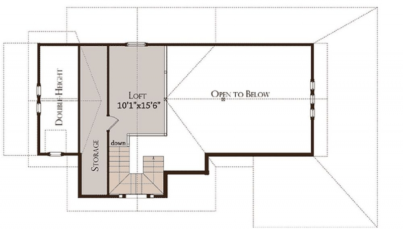 Plan Lsg13306ww 1 Bedroom 1 5 Bath Log Home Plan