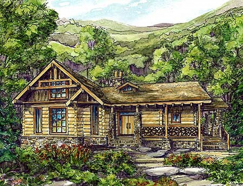 Plan lsg13309ww 2 bedroom 2 5 bath log home plan for Two bedroom log homes