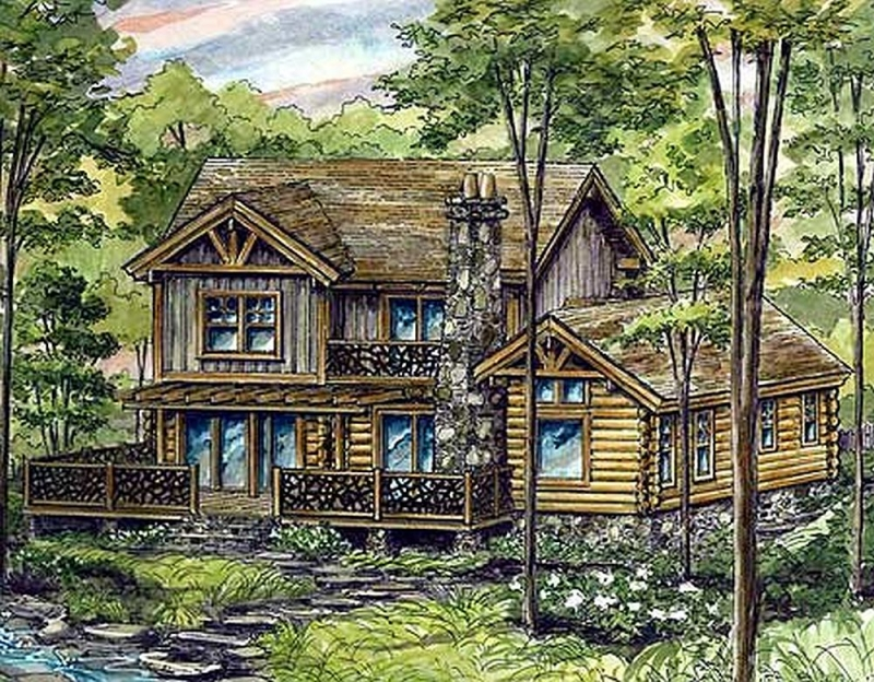 Plan lsg13313ww 3 bedroom 2 5 bath log home plan for 5 bedroom log homes