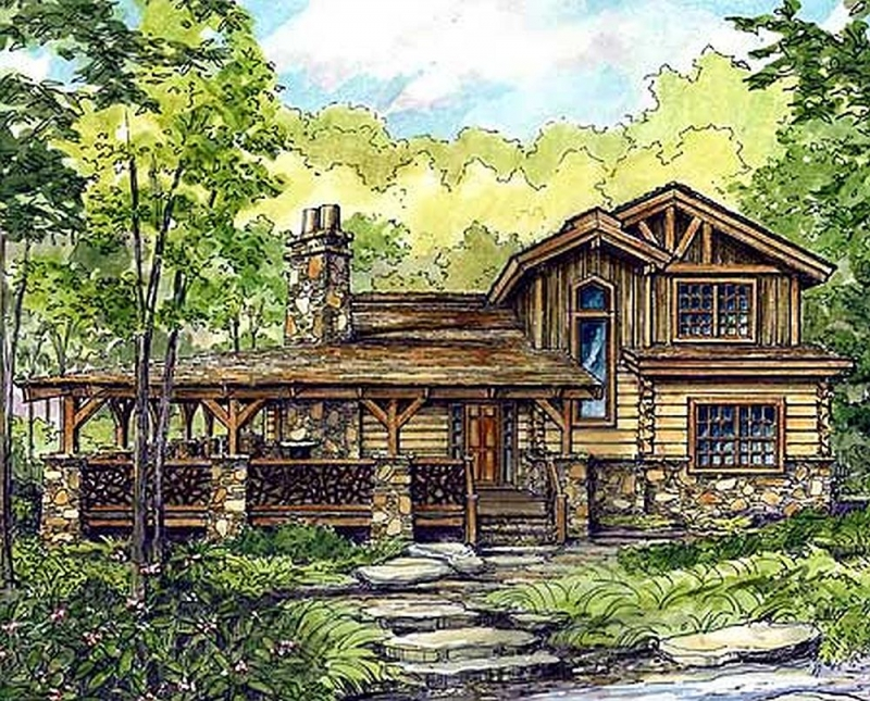 Plan lsg13318ww 3 bedroom 3 5 bath log home plan for 5 bedroom log home plans