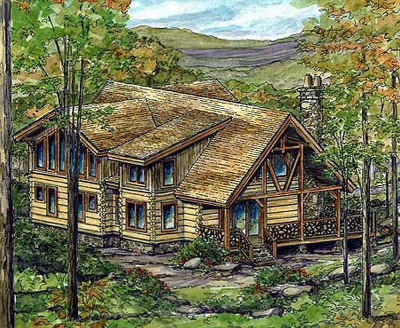 Plan lsg13321ww 2 bedroom 2 5 bath log home plan for 5 bedroom log home plans