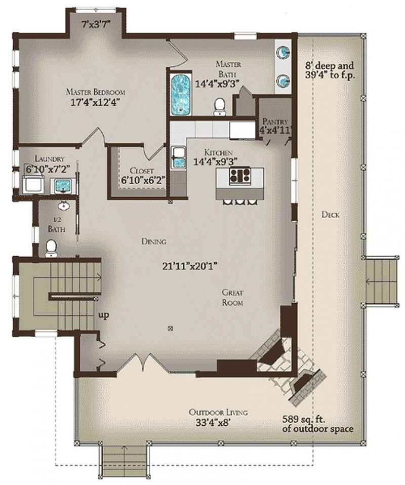 Plan Lsg13321ww 2 Bedroom 2 5 Bath Log Home Plan