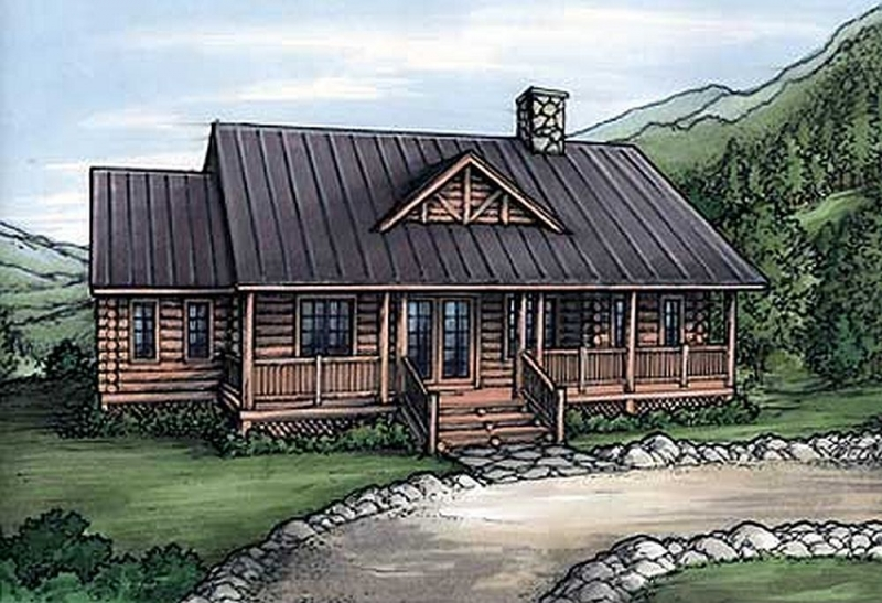 Plan lsg24084bg 5 bedroom 4 bath log home plan for 5 bedroom log home plans