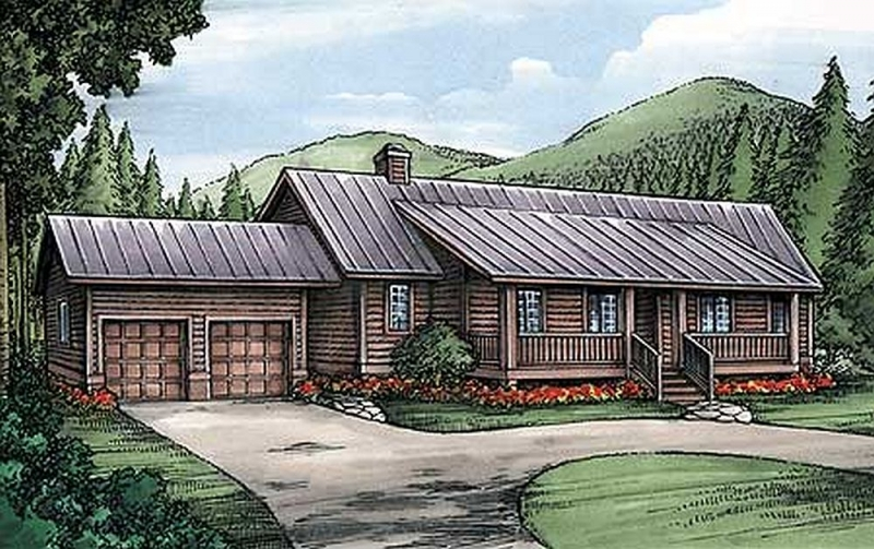 Plan lsg24091bg 3 bedroom 3 5 bath log home plan for 5 bedroom log home plans