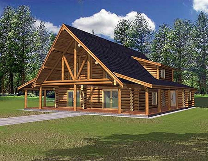 Plan lsg35209gh 1 bedroom 2 5 bath log home plan for 5 bedroom log homes