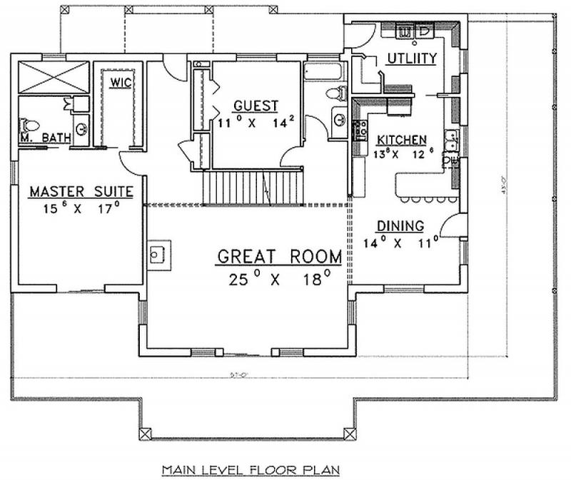 Plan LSG35293GH 2 Bedroom 3 Bath Log Home Plan