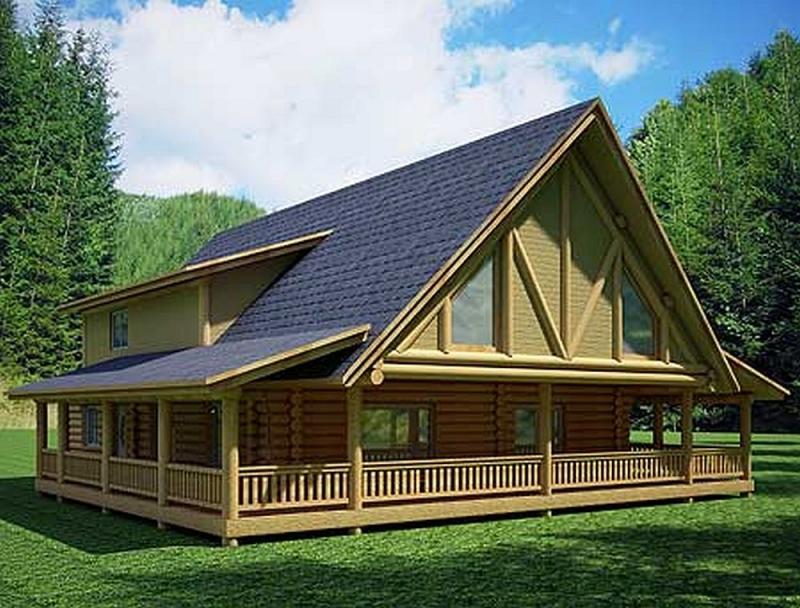 Plan lsg35412gh 1 bedroom 1 5 bath log home plan for 5 bedroom log homes