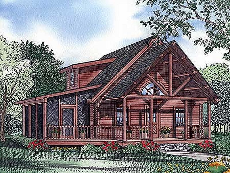 Plan LSG59020ND 3 Bedroom 2 Bath Log Home Plan