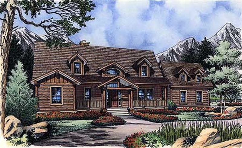 Plan lsg6473hd 3 bedroom 2 5 bath log home plan for 5 bedroom log homes