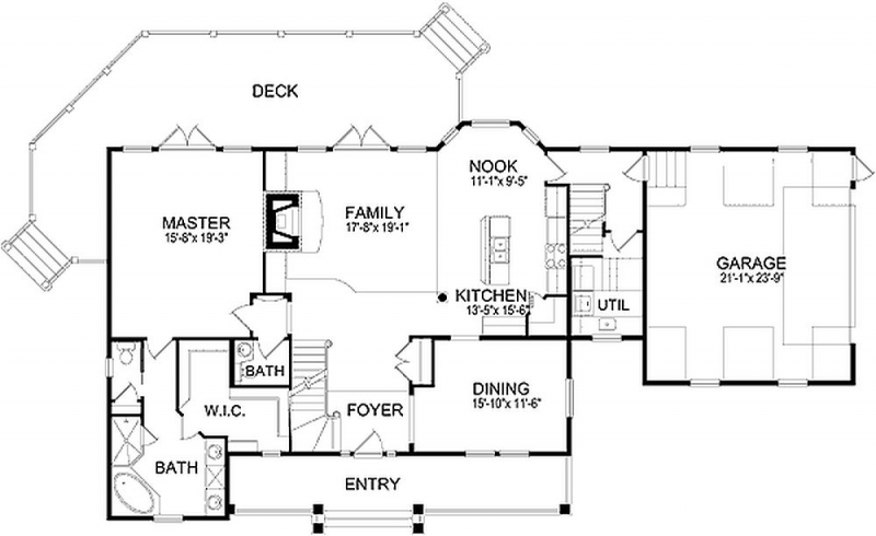 Plan LSG6473HD 3 Bedroom 2 5 Bath Log Home Plan