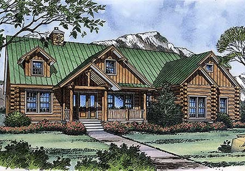 Plan lsg6480hd 3 bedroom 3 5 bath log home plan for 5 bedroom log home plans