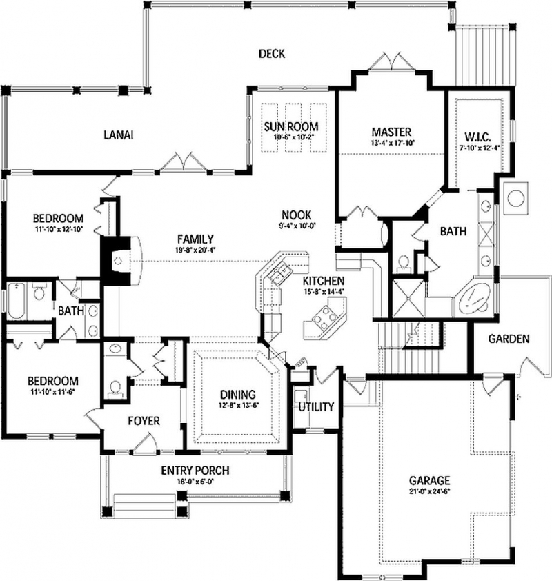 Plan Lsg6480hd 3 Bedroom 3 5 Bath Log Home Plan