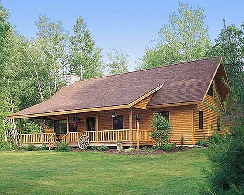 Plan lsg81419w 2 bedroom 3 bath log home plan for Two bedroom log homes
