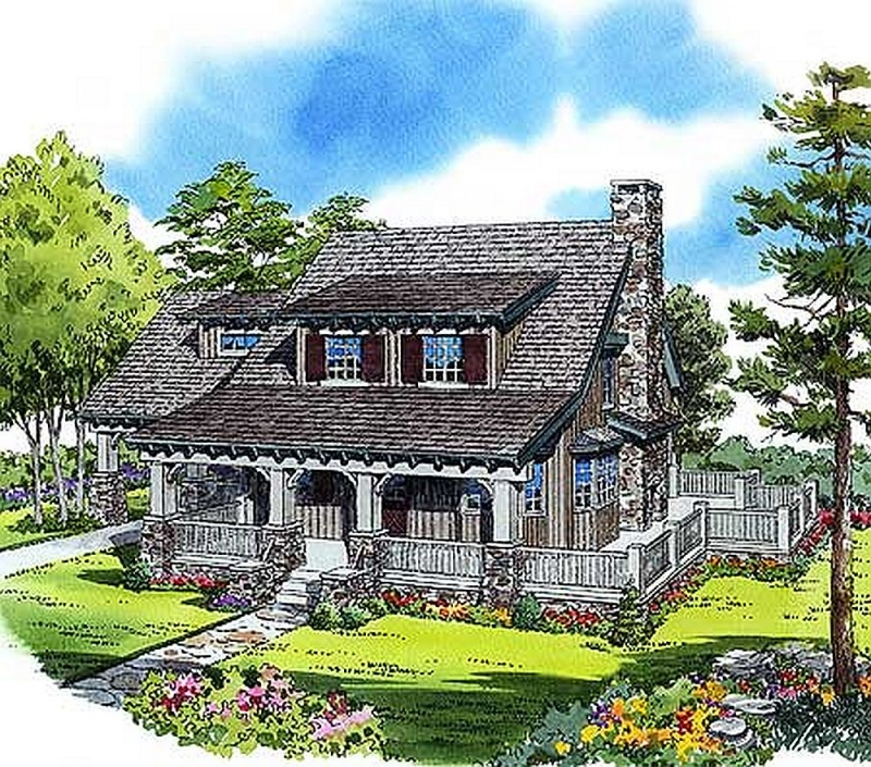 Plan W11523KN 2 Bedroom 1 Bath Log Home Plan