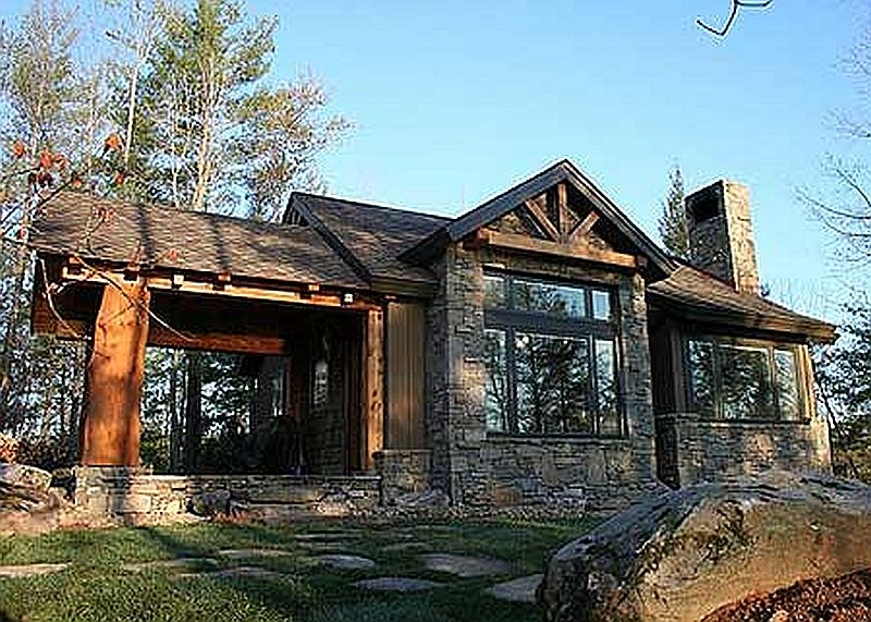 Plan w11529kn 2 bedroom 2 bath log cabin plan Cabin house plans