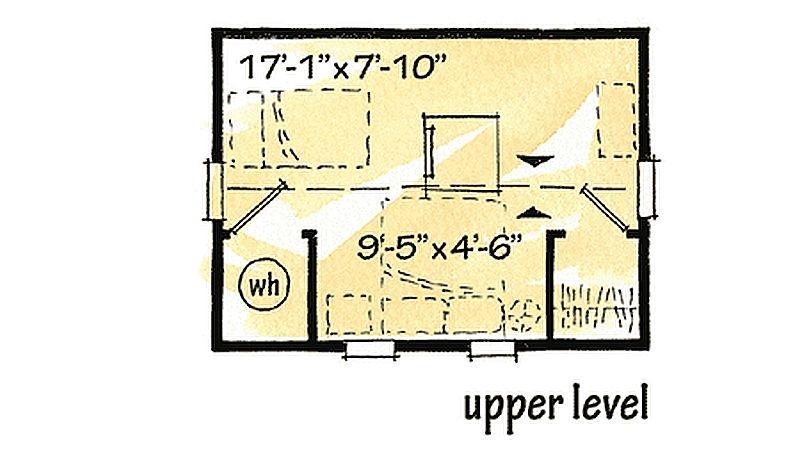 Plan W11546kn 1 Bedroom 1 Bath Log Cabin Plan