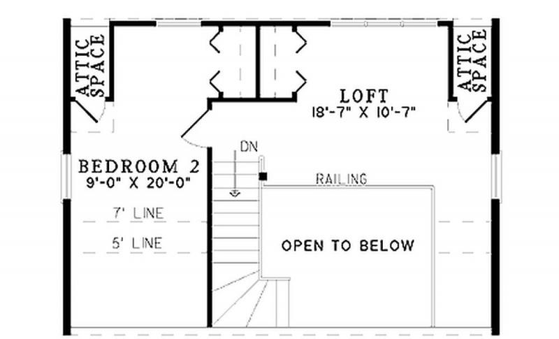 Plan w59044nd 2 bedroom 1 bath log cabin plan for 2 bedroom log cabin plans