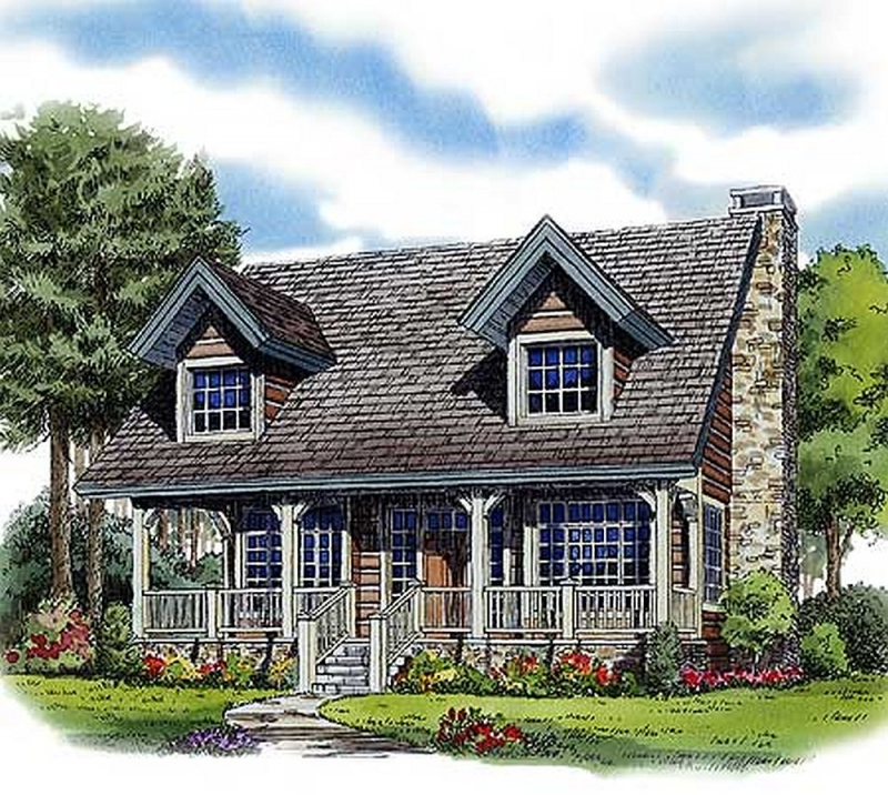 Planw11526kn 2 bedroom 2 bath log home plan for Two bedroom log homes