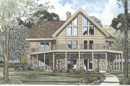 The eagle ridge log home plan for Eagles ridge log cabin