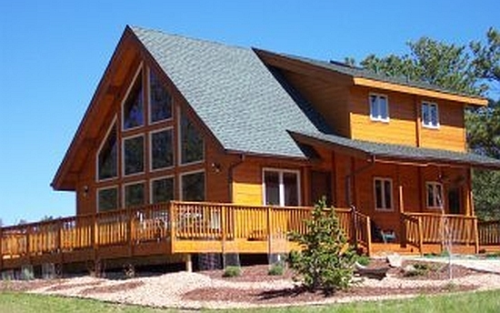the mountain view log home plan