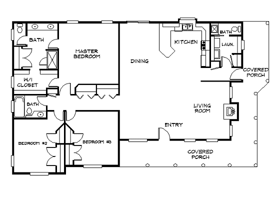The Prairie Ranch Log Home Plan