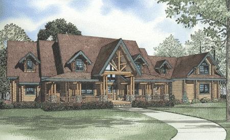The Sunset Ridge Log Home Plan