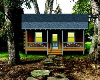 Plan 154 00002 2 Bedroom 0 Bath Log Cabin Plan